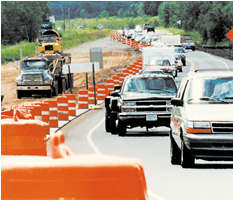Work zone safety--cars on the freeway