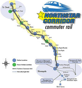 Commuter rail map