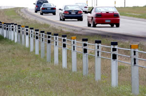 Cable median barrier