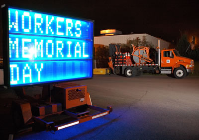 Workers Memorial Day sign