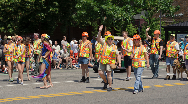 MnDOT employees in Pride Parade