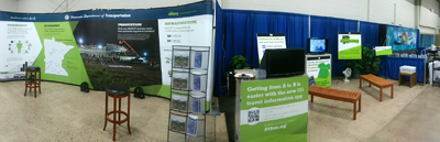 Photo of the MnDOT State Fair booth.