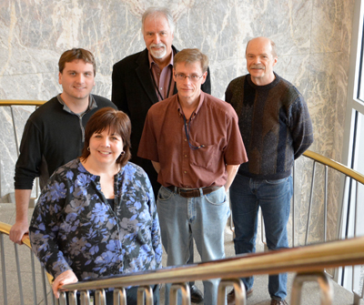 Photo of Jennifer Bailey Matti, Keith Jellinger, James Currell, Loren Irwin and Mike Geertsema.