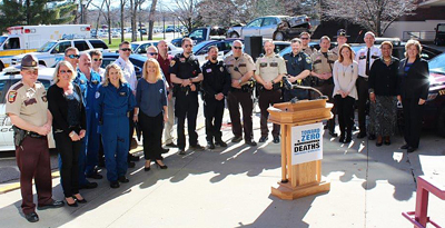 Photo from Distracted Driving News Conference & Community Outreach Event.