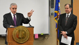 Governor Dayton, Commissioner Zelle at news conference