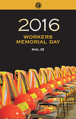 Poster for Workers Memorial Day.