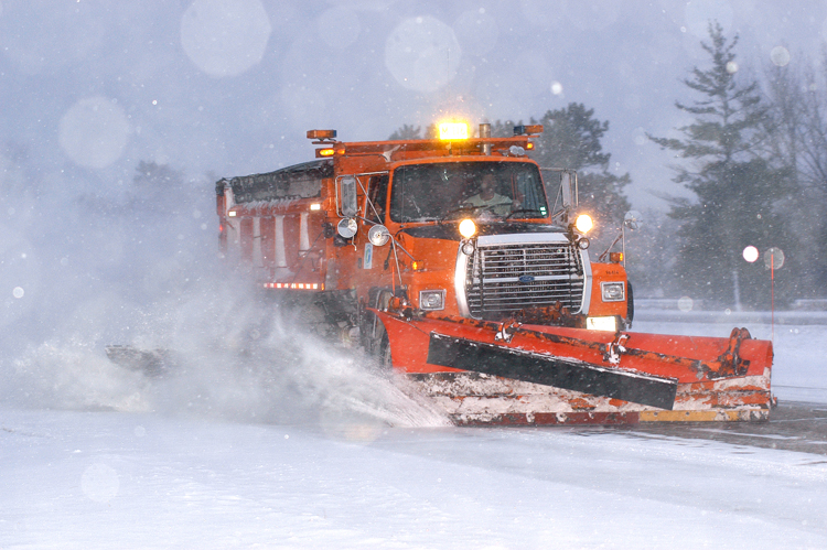 Photo: a snowplow